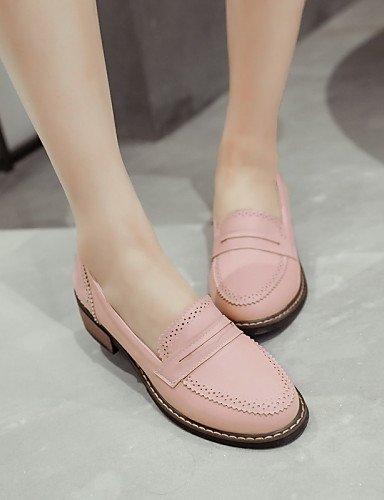 5 Black 5 us8 Uk6 Eu42 Zq us10 Bajo Pink tacón Eu39 mocasines Cn43 semicuero 5 Beige Mujer Rosa Zapatos negro punta Redonda casual Gyht Uk8 De Cn40 5 xqxg1Bwa4