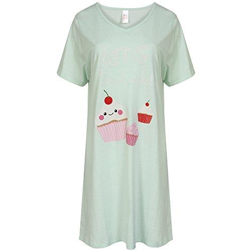 Rosa Camicie menta verde 44 in donna grigio maniche cotone da 46 52 Mint o corte 42 a 48 Taglie 50 qqfPr0xw
