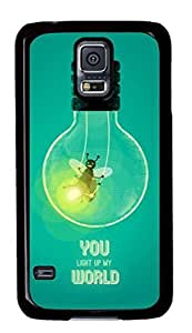Samsung Galaxy S5 Case, iCustomonline You Light Up My Would Designs Protective Case Cover for Samsung Galaxy S5 PC Material Black