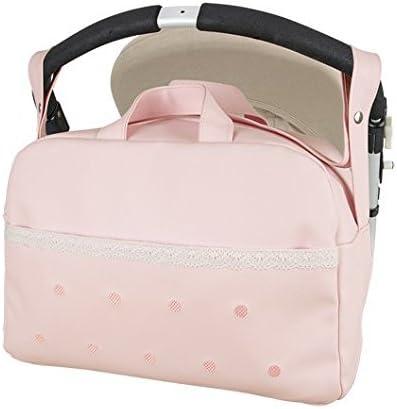 Bolso Carro bebe Maternal Polipiel Levante -Danielstore + Regalo de un babero (Rosa)