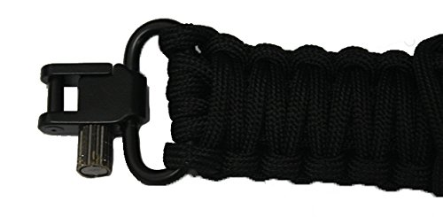 Ultimate Arms Gear 550 lb Paracord Survial Shoulder Harness Strap Sling, Black Over 56' ft Parachute Cord with Swivels for Ruger 1022 10/22 10-22 Mini-14 SR-556 SR-22 Rifle by Ultimate Arms Gear (Image #4)