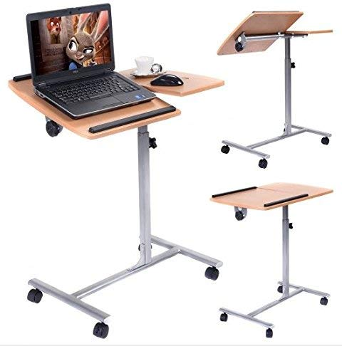 SKB Family Adjustable Laptop Desk with Stand Holder and Wheels Durable Adjustable Comfortable Useful