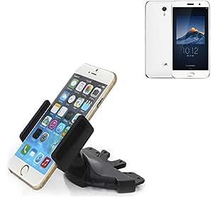 Ranura de CD Smartphone Soporte para ZUK Z1 | soporte de coche de uso general para los dispositivos de navegación / los teléfonos inteligentes para el montaje en la ranura de CD de la radio del coche. El soporte 360 ??es libremente ajustable. El dispositivo de agarre es adecuado para todos los teléfonos móviles de hasta 90 mm de ancho. Soporte para coche ranura de CD, ranura de CD del coche del soporte Coches, hecho para el smartphone, teléfono móvil, la navegación / GPS