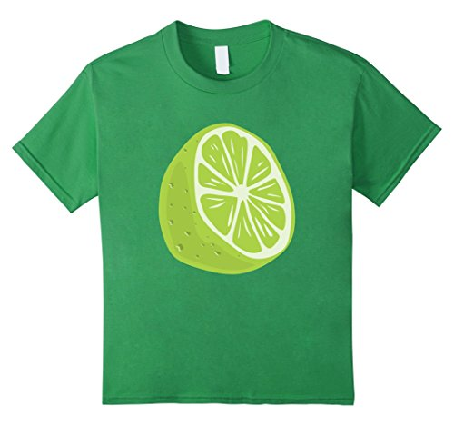 Kids Lime Halloween Costume T-Shirt - Guacamole Group 8 Grass