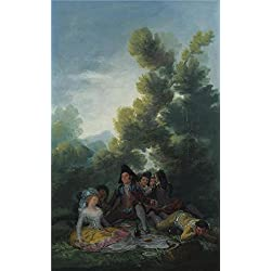 High Quality Polyster Canvas ,the Reproductions Art Decorative Canvas Prints Of Oil Painting 'Francisco De Goya - A Picnic,1785-90', 10x16 Inch / 25x41 Cm Is Best For Home Office Gallery Art And Home Decor And Gifts