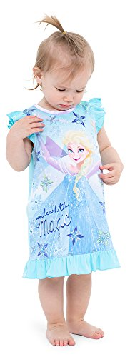 Disney Toddler Girls' Frozen Elsa Nightgown, Frosted Magic, 3T ()