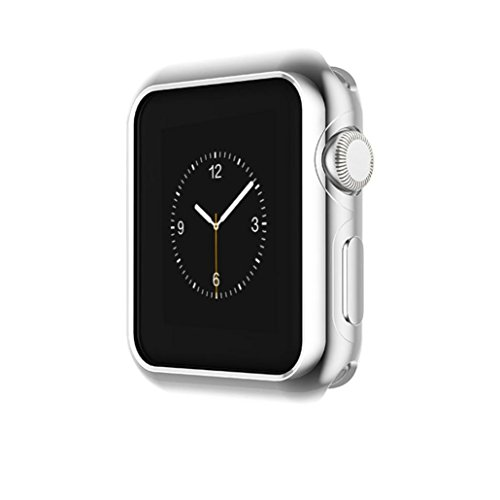 Price comparison product image Owill Ultra-Slim Electroplate PC Case Cover For Apple Watch Series 3 42mm (Silver)