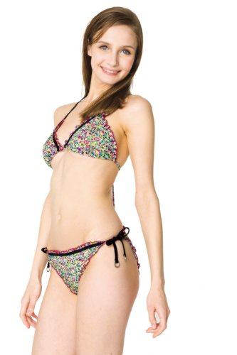 Solar Tan Thru Neck Holder de triángulo de bikini 808b1455 –�?2 verde