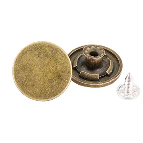George Jimmy 10 Pcs 20mm Vintage Buttons Replacement Tack Button for Jean Jacket Suspenders, 11# ()