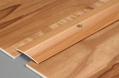 Aluminum Cover Strips And Connecting Profile With Mounting Holes On It PS 03 (Length - 48 Inch, Whitened Maple)