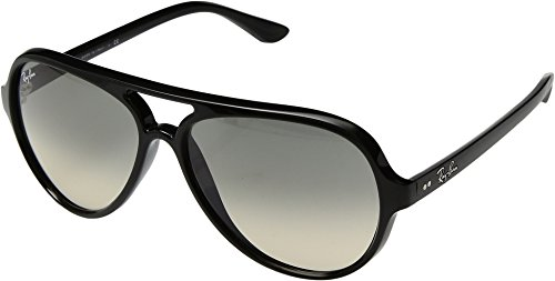 Ray-Ban Unisex Cats 5000 RB4125 59mm Black/Crystal Grey Gradient One - Ban Sunglasses Ray Transition