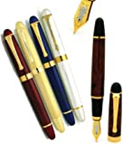 X450 QUINATE – X450 Kurve Claret, Gold, Midnight, Vanilla, and Scintillio Vintage Fountain Pen Quinate by Bulow®, Office Central