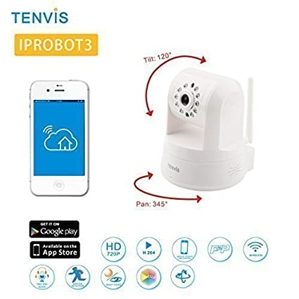 TENVIS IPROBOT3 Cámara IP H.264 P2P Wireless WIFI Seguridad Internet IP Cámara HD Visión