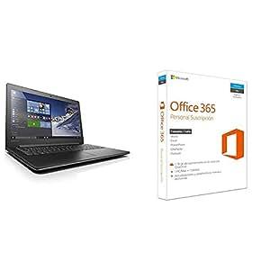 "Lenovo Ideapad 310-15ABR - Portátil de 15.6"" Full HD (AMD Quad-Core A12-9700P, RAM de 8 GB, HDD de 1 TB, AMD Radeon R5 M430 2 GB RAM, Windows 10 Home + Office 365 personal) negro - teclado QWERTY Español"