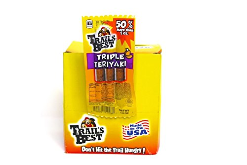 Trails Best Triple Sticks, Teriyaki, 18 Ounce (Pack of 4)