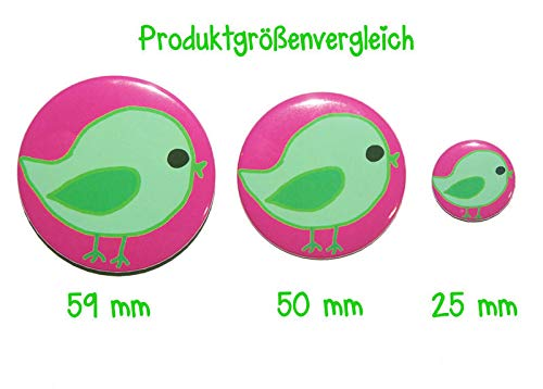 Varianten Lustiger Spruch Button 50mm K/ühlschrankmagnet 50mm Flaschen/öffner 59mm Taschenspiegel 59mm Endlich Wochenende