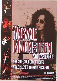 Yngwie Malmsteen Lizzy Borden 2004 Concert Tour Poster