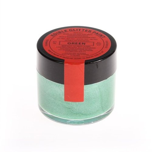 10 x Sugarflair 20g GREEN Edible Glitter Paint Cake Icing Sugarpaste Decorating