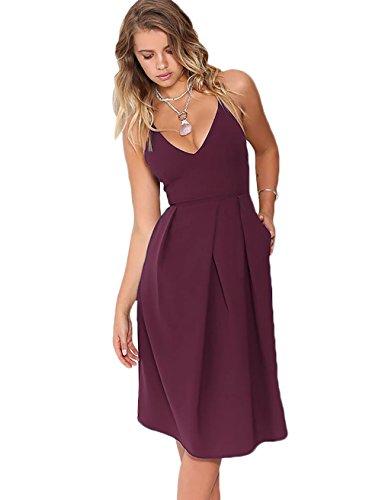 Jersey Deep V-Neck Dress - 6