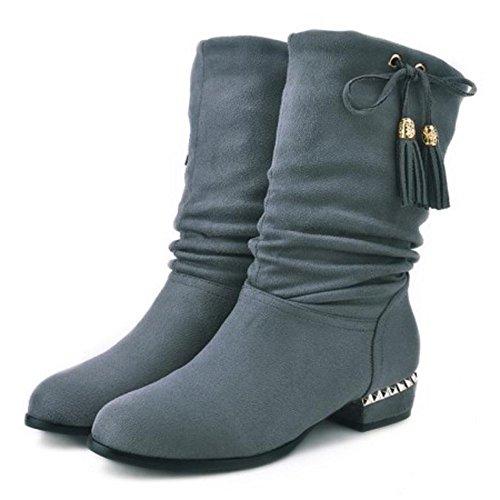 Fashion VulusValas Boots VulusValas Women Women Gray Btx0qHan