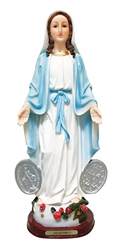 16 Inch.Our Lady of Grace Statue Virgin Mary, the Blessed Mother of the Immaculate Conception Our Lady of Miracle