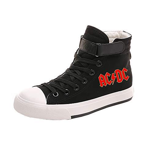Hautes Lacets Toile À respirant Chaussures Acdc Mode Ultra Black08 Amant Baskets qS1zUC