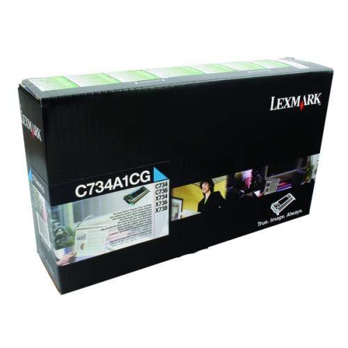 (Lexmark C734A1CG Cyan Toner Cartridge)