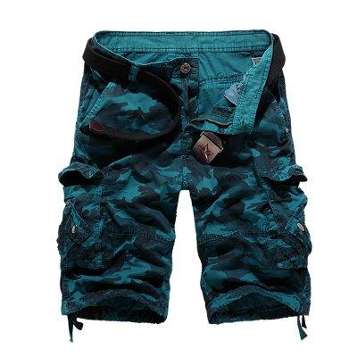 WDDGPZDK Strand Shorts/ Camouflage Military Cargo Shorts Men Lose  Herren Cargo Shorts Mann Männlich Baumwolle Mode Shorts