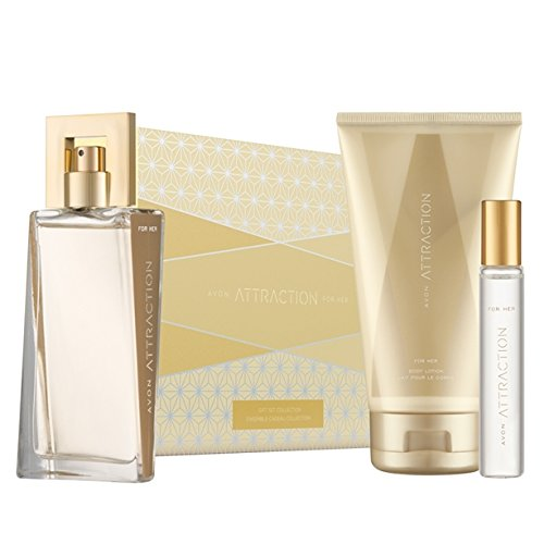 Attraction For Her Gift Set - EDP, Body Lotion & Purse Spray Avon