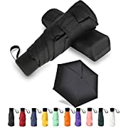Mini Travel Umbrella GAOYAING Sun&Rain Lightweight Small and Compact Suit for Pocket Parasol with 99% UV Protection for…