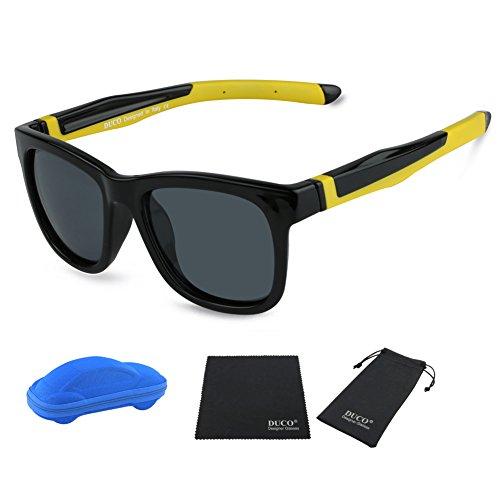 Duco Kids Sports Style Polarized Sunglasses TPEE Flexible Frame Glasses For Boys And Girls - Eyelevel Sunglasses Polarised
