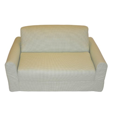 Fun Furnishings Sofa Sleeper, Green Check