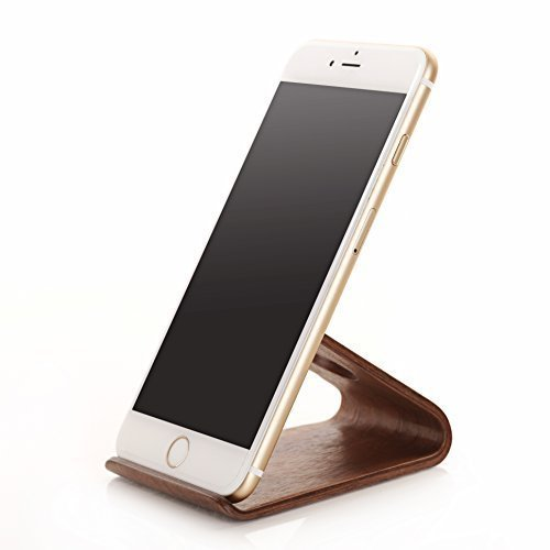 Samdi New Wooden Cell Phone Stand or Cell Phone Holder,a Good Cell Phone Decorations,for All Kinds of Brand Cell Phone Such As Iphone Samsung Nokia Htc Huawei Sony Mi Moto and so on (Black(walnut Color))