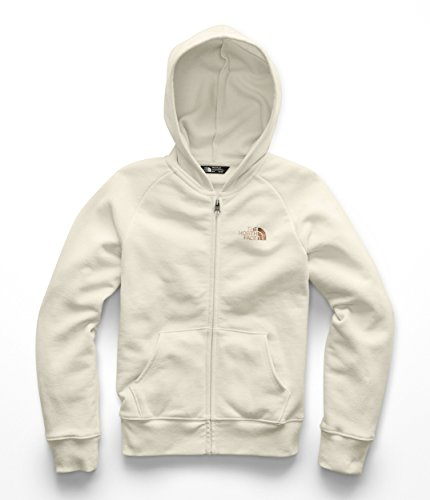 The North Face Girl's Logowear Full Zip Hoodie - Vintage White - L