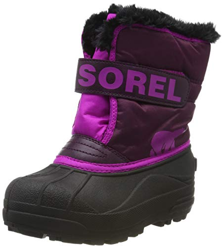 Sorel - Youth Snow Commander Snow Boots for Kids, Purple Dahlia/Groovy Pink, 10 M US