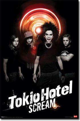 Tokio Hotel Group Scream Emo Pop Rock Music Poster Print 22 By 34