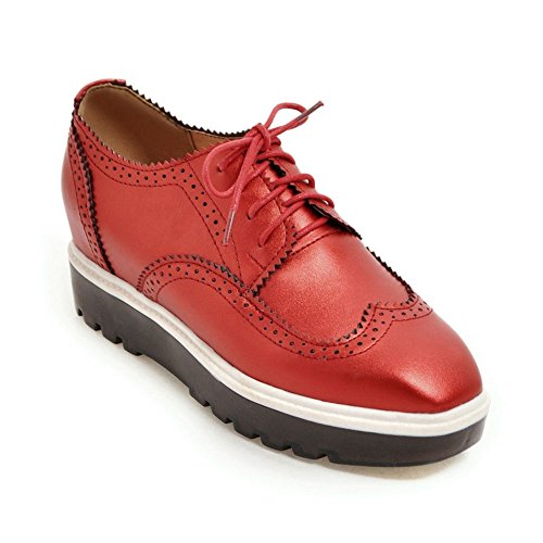 Zapatos casuales suela gruesa moda señora head/aumentó cuñas zapatos de Inglaterra B