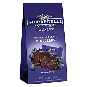 Ghirardelli Dark Chocolate Blueberry Squares 6.3 oz Bag NEW Flavor!