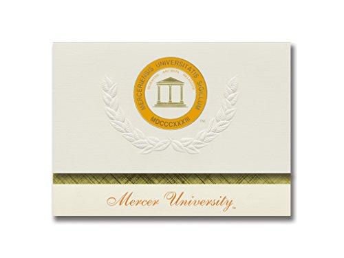 Signature Announcements Mercer University Graduation Announcements,  Platinum style, Basic Pack 20 with Mercer U  Seal Foil