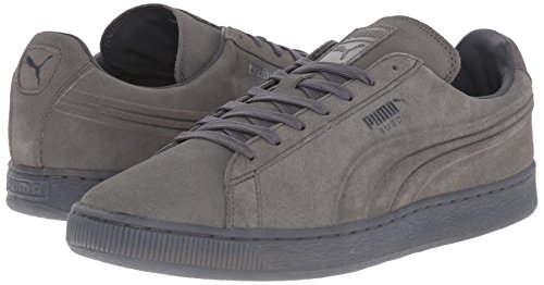 PUMA Men's Suede Emboss Iced Fashion Sneakers, Dark Shadow, 9 D US Photo #3