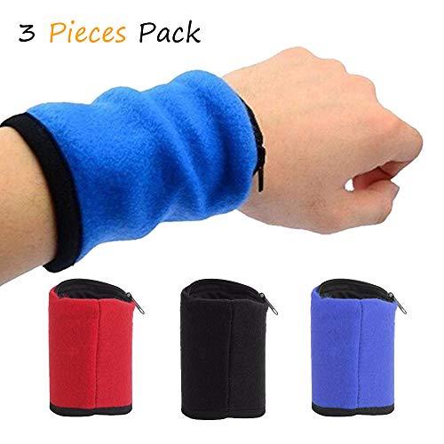 Sport Running Phone Arm Bag Wristband Badminton Tennis Sweatband Wrist Support Pocket Wrist Wallet Pouch Arm Band Bag (Banjee Wallet Wrist)