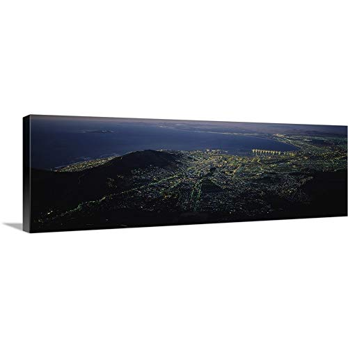 GREATBIGCANVAS Gallery-Wrapped Canvas Entitled Aerial View of a City, Cape Town, South Africa by 36