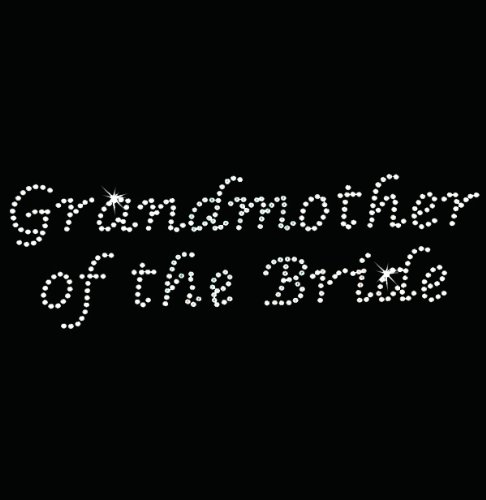 Iron on Hot Fix Rhinestone Motif Design Grandmother of the Bride - Lucinda - Hot Fix Rhinestone Motif Iron
