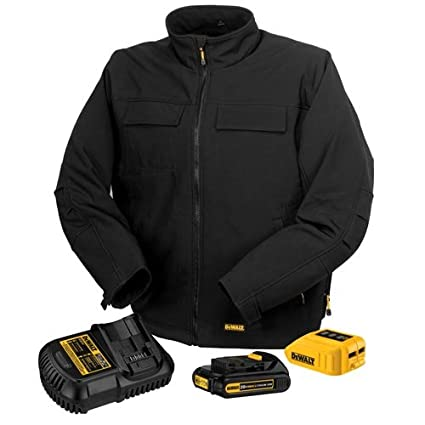 DEWALT DCHJ060C1-L 20V/12V MAX Black Heated Jacket Kit, Large