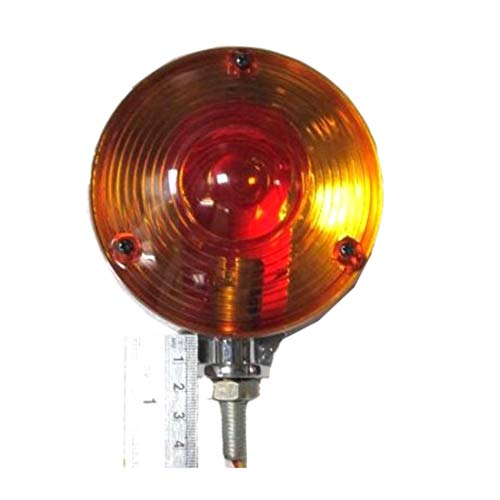 Warning Hazard Indicator Lamp Light Amber Amber 12V Chrome Frame Tractor Truck Trailer - 11002903