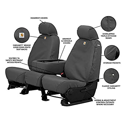 Covercraft Carhartt SeatSaver Front Row Custom Fit Seat Cover for Select Toyota Tacoma Models - Duck Weave (Gravel) - SSC2360CAGY: Automotive