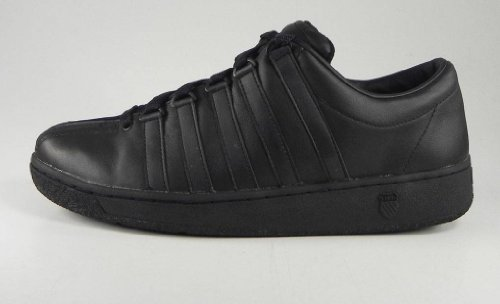 (K-Swiss Men's Classic LX Lace-Up Sneaker,Black,9 M US)