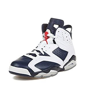 finest selection 104cc fdf11 ... Red Leather Basketball Shoes Size 8.5. upc 886551155280 product image  for NIKE Mens Air Jordan 6 Retro Olympic White Midnight Navy. upc  886551155280 ...