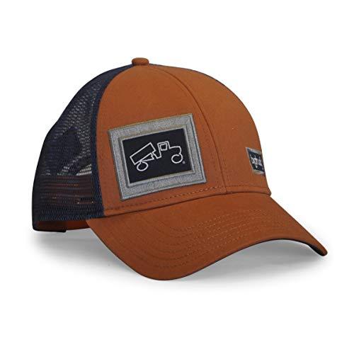 bigtruck Classic Trucker Hat, Burnt Orange Navy, Adult Burnt Orange Classic Mesh