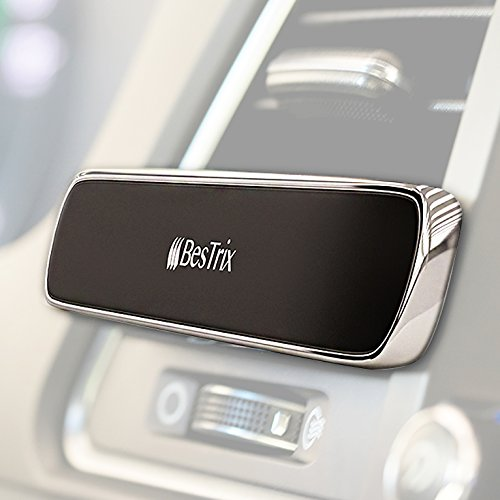 Bestrix Magnetic Phone Holder For Car Air Vent, Super Strong Magnet, Elegant & Luxury design for iPhone X,8/7/6/6s Plus, Samsung Galaxy S6/S7/S8/S9/Plus & All Smartphones & Mini Tablets - Magnetic Car Magnets